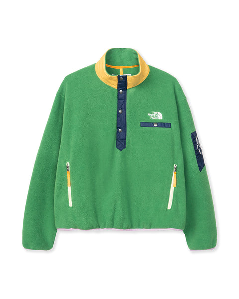 The North Face x Brain Dead 89 Placket Pullover Fleece - Sullivan Green