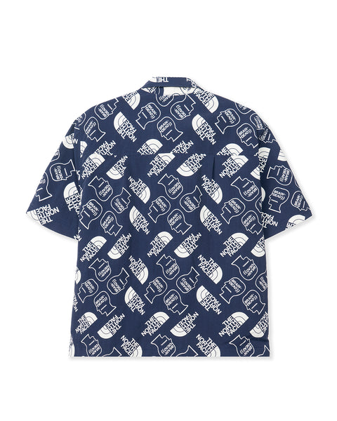 The North Face x Brain Dead Boxy SS Mountain Shirt - Navy