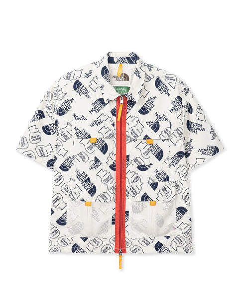 The North Face x Brain Dead Boxy SS Mountain Shirt - Vintage White