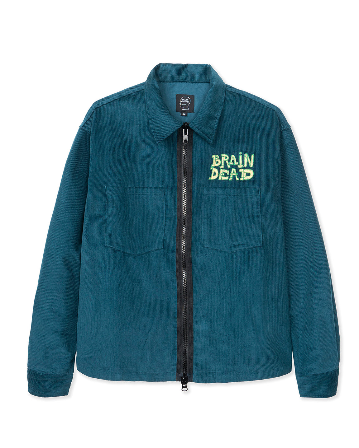 Mushroom Embroidered Full-Zip Corduroy Shirt Jacket - Rain
