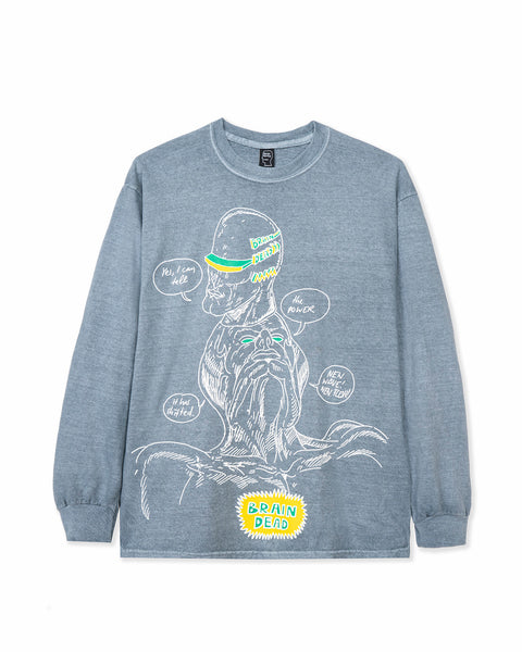 Power Shift Long Sleeve Tee - Slate Gray