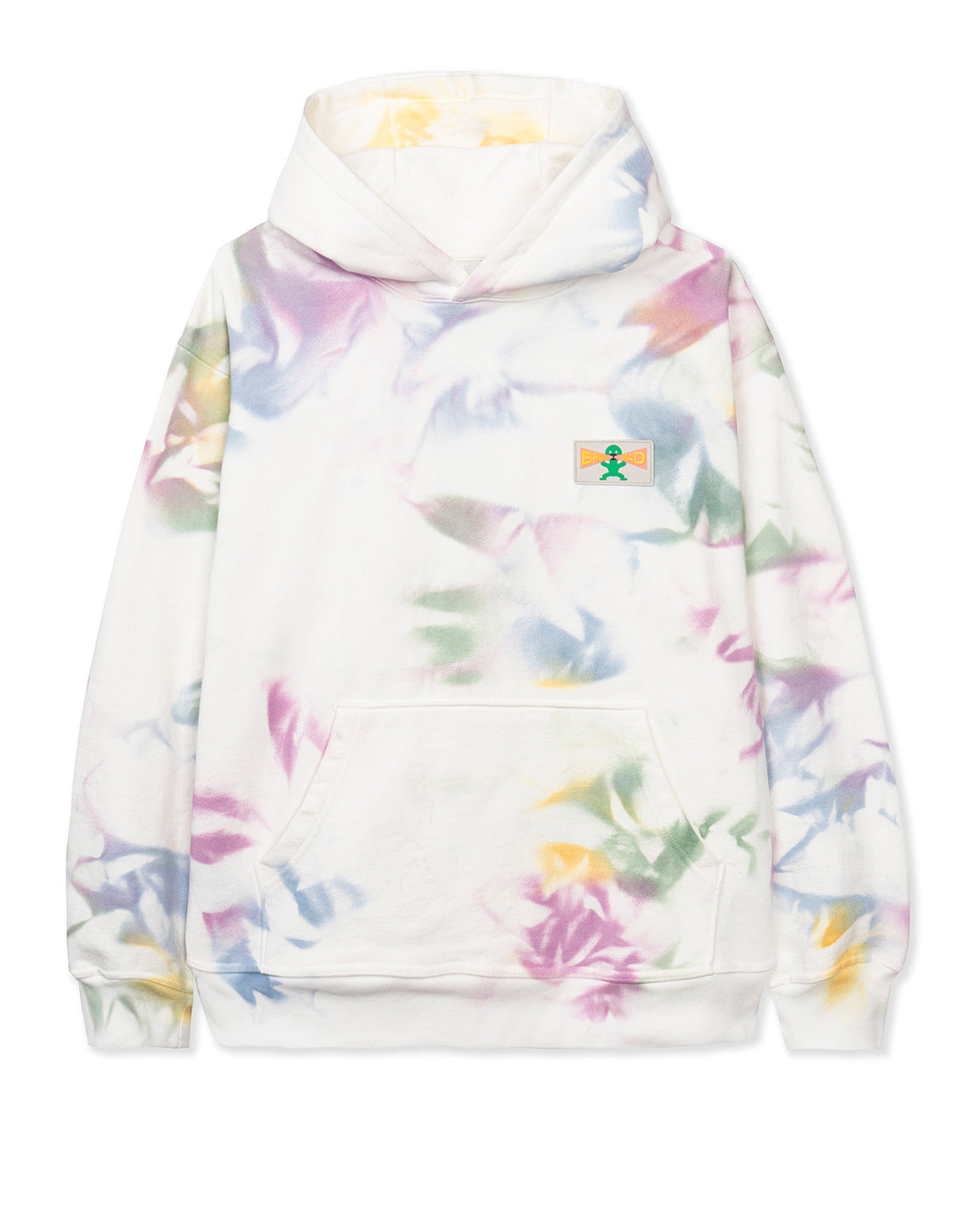 Shout PVC Patch Hooded Sweatshirt - Dry Pigment Dye