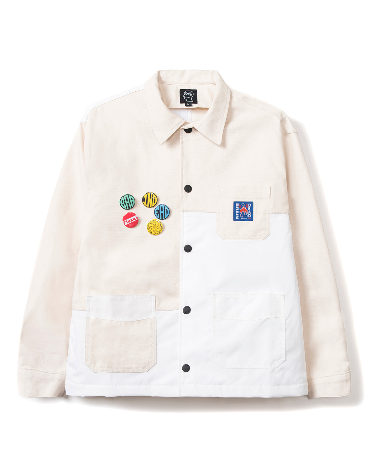 Paneled Chore Coat - White - Brain Dead