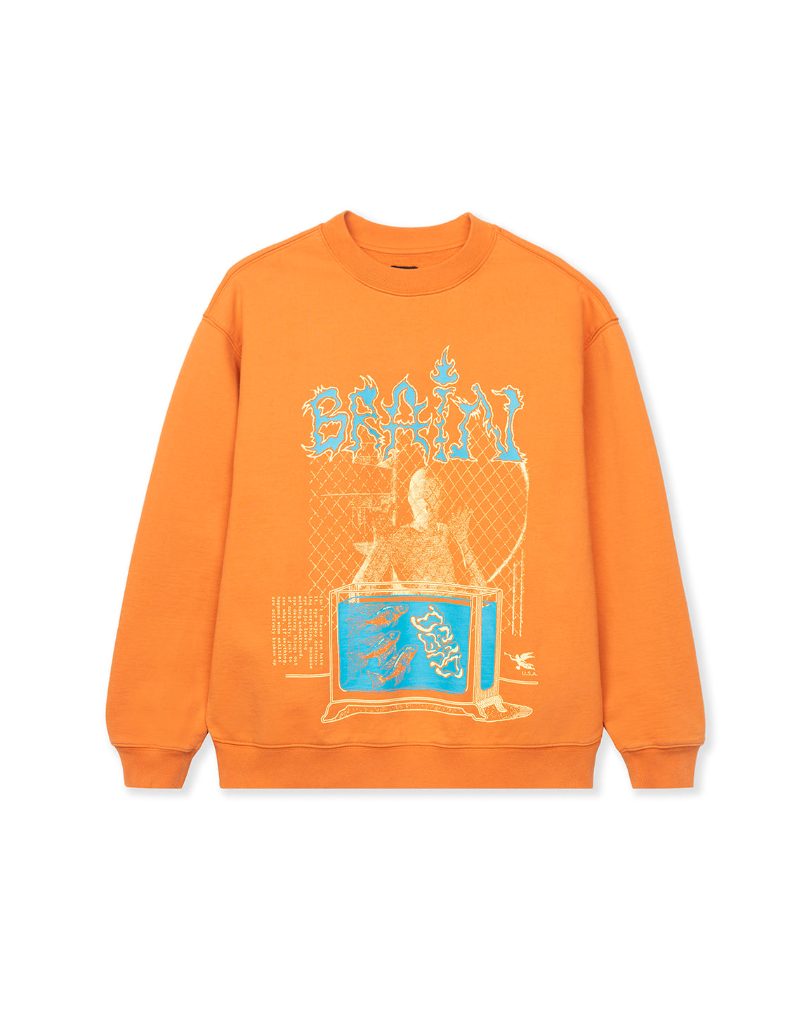 Fish Tank Crewneck Sweatshirt - Orange
