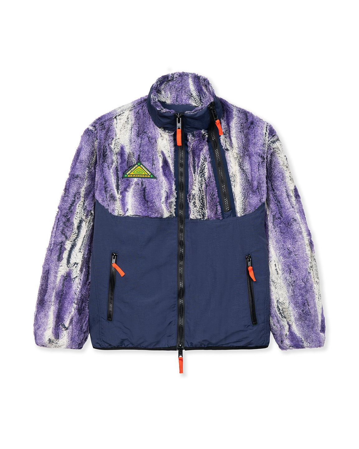 Post Earth Syndrome Fur Fleece - Purple Multi