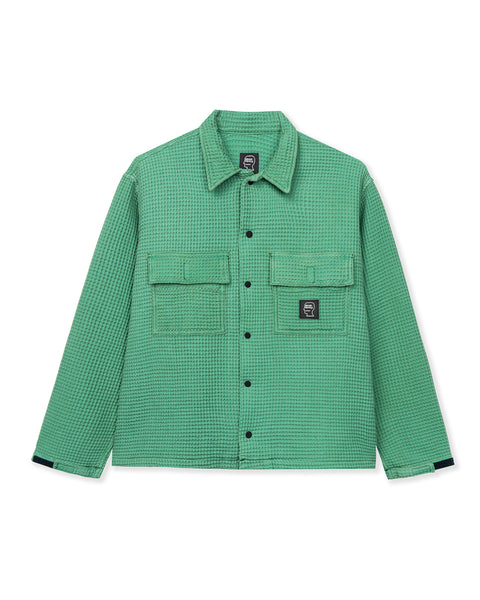 Waffle Snap Front Shirt - Mint