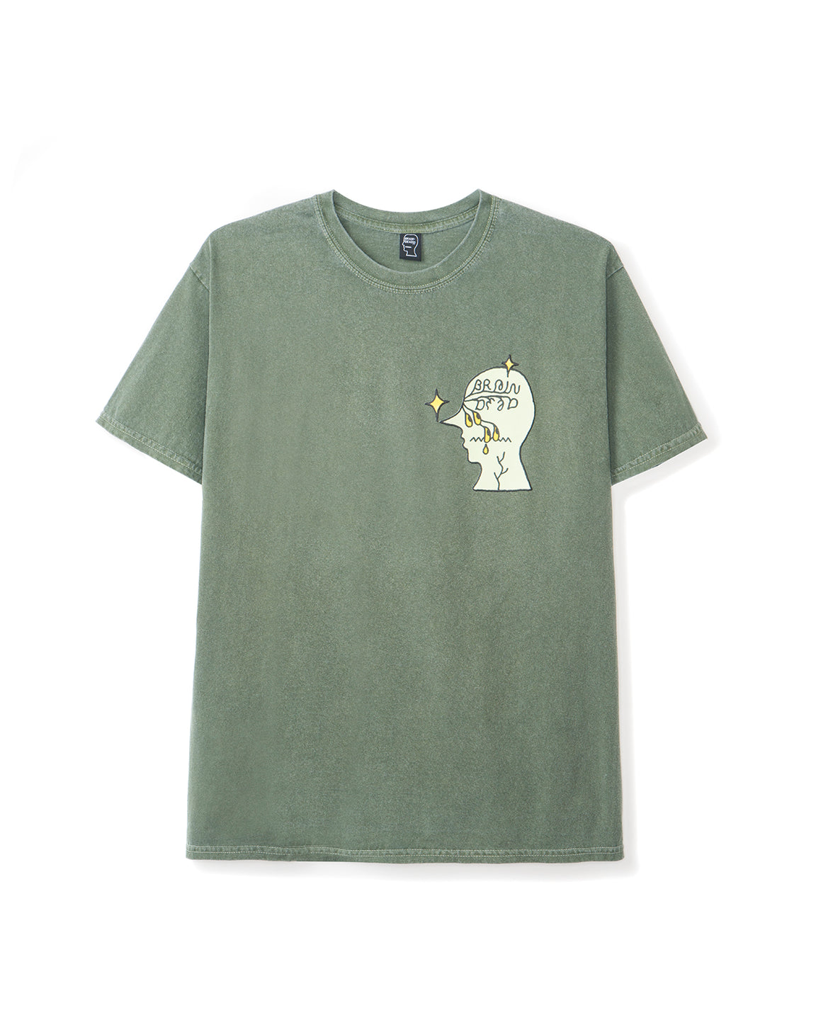 Graffiti Letter T-shirt - Forest Green