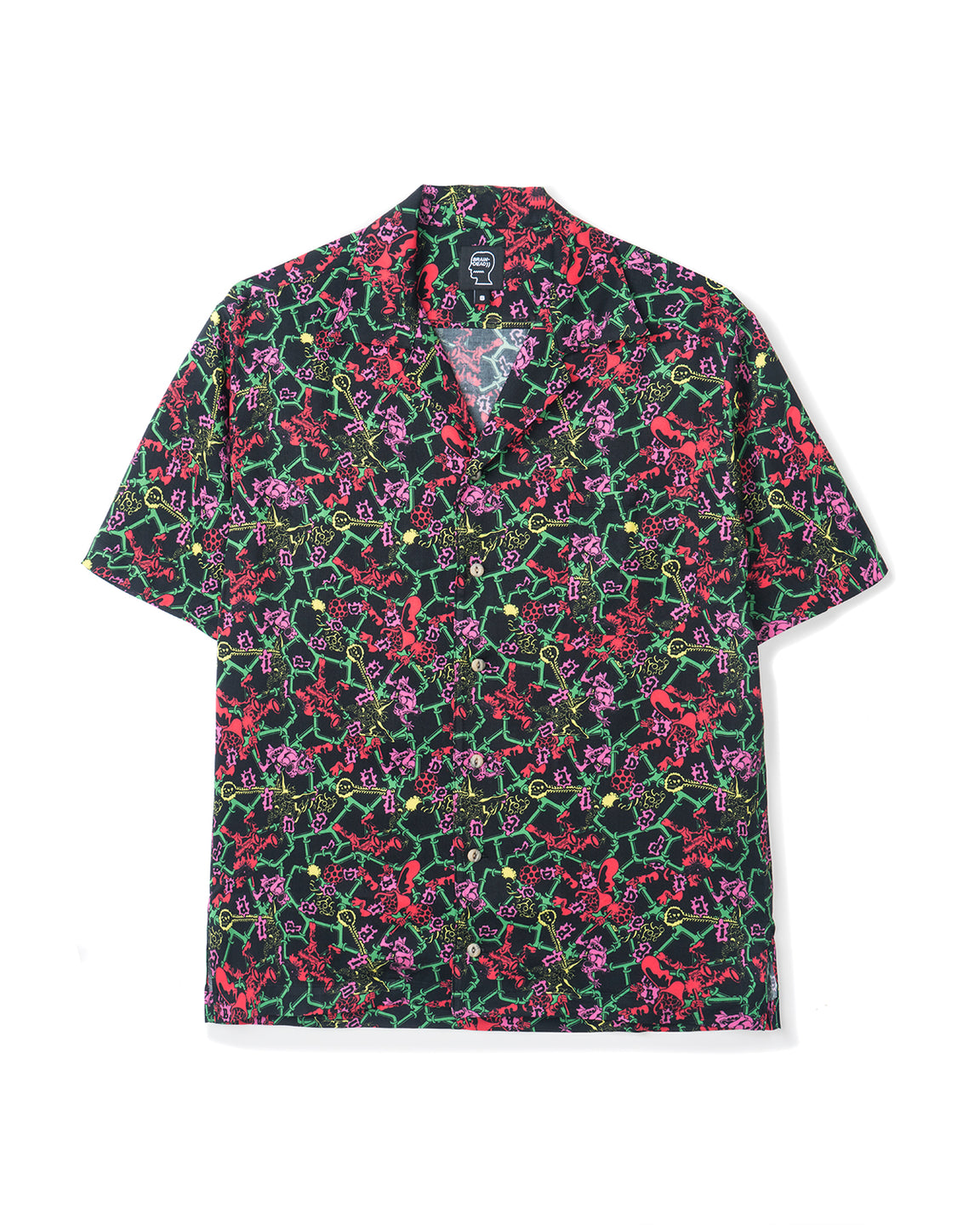 Will Sweeney Piping Hawaiian Shirt - Black