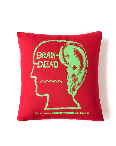 ambient pillow - red - brain dead - front