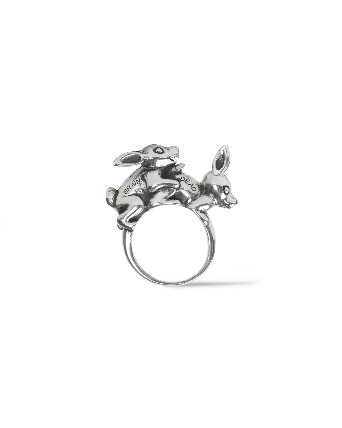 Bunny Love Silver Oxidized Ring - Silver