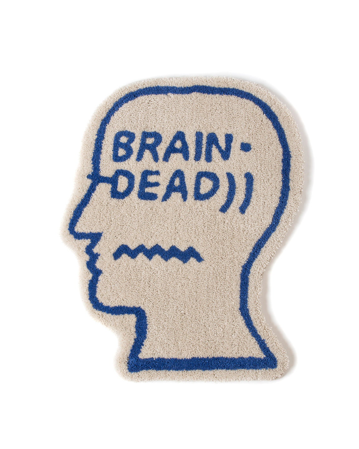 Logo Head Rug - Natural - Brain Dead