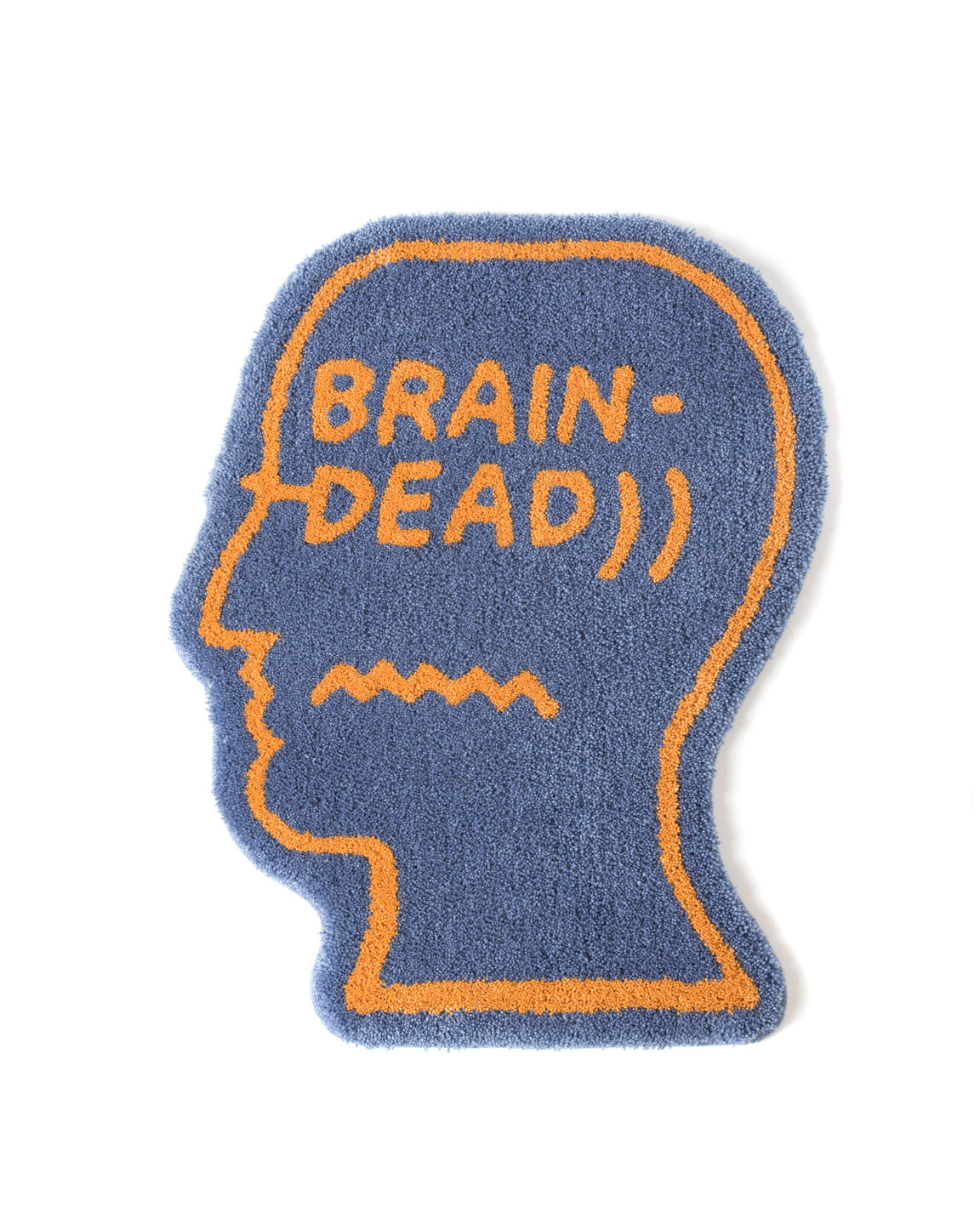 Logo Head Rug - Berry - Brain Dead