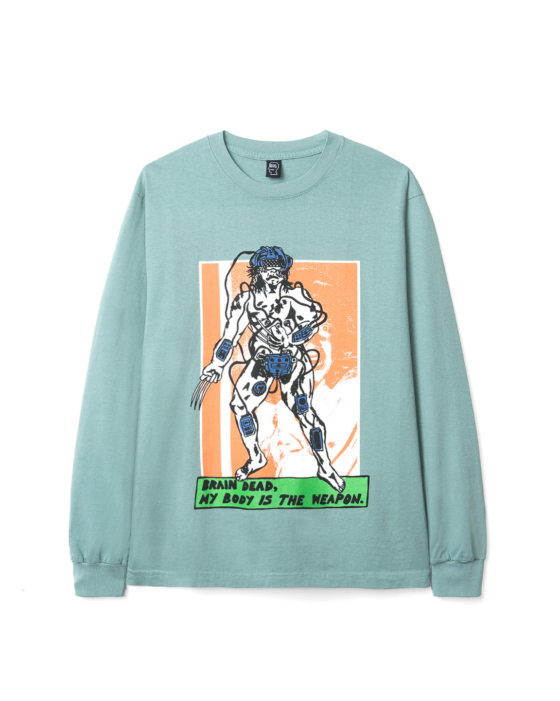 Weaponized Long Sleeve Tee - Atlantic Green - Brain Dead
