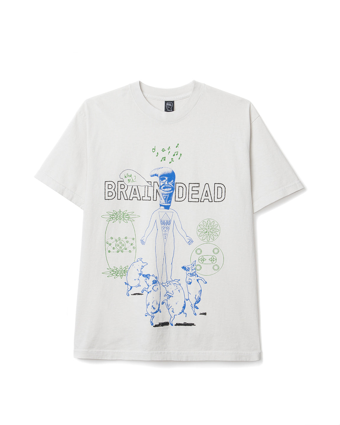 On Hot Tiles Braindead T-shirt - Natural - Brain Dead