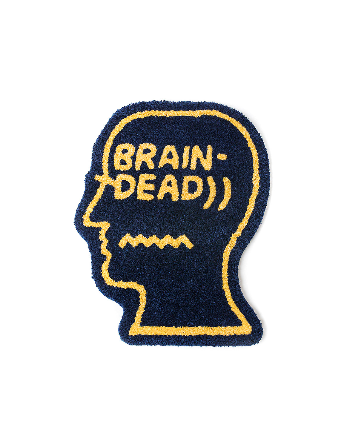Logo Head Rug - Navy - Brain Dead