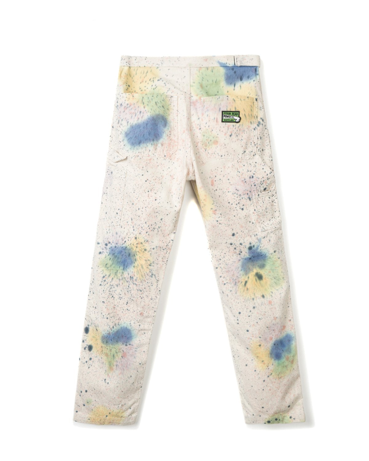 Hard/Software Velcro Carpenter Pant - Hand Splatter Dye / Washed back