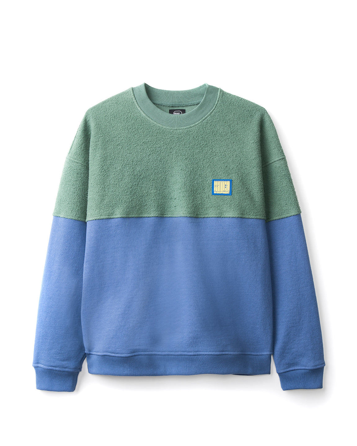 Split Crew Neck - Green/Blueberry