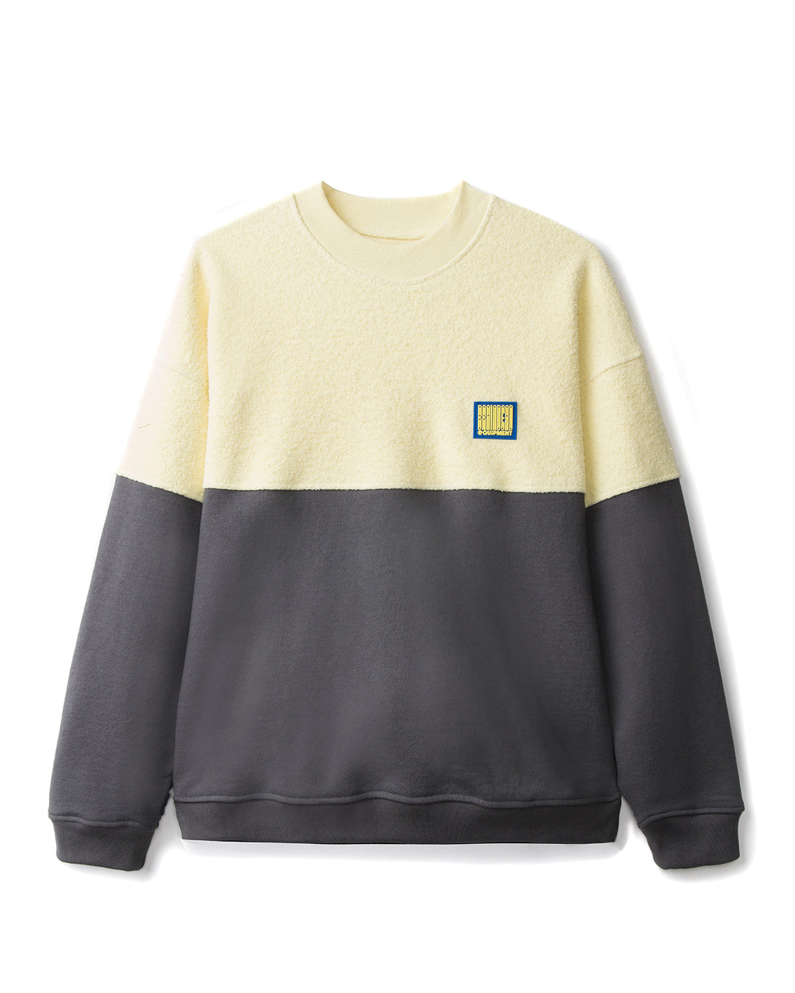 Split Crew Neck - Lemon/Warm Grey