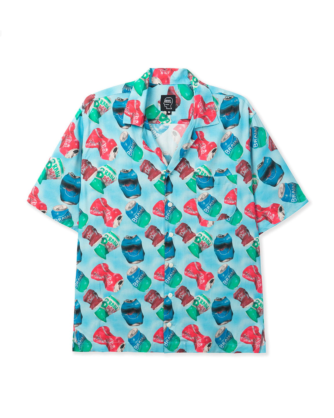 Aaron Jupin Cans Short Sleeve Hawaiian Shirt - Blue