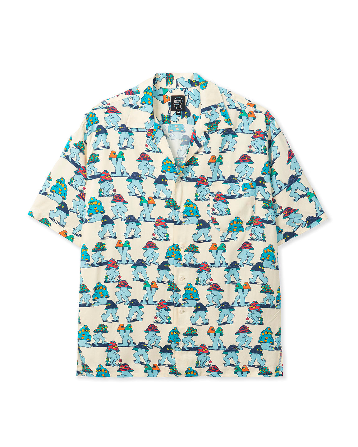 Mushroom Short Sleeve Hawaiian Shirt - Natural