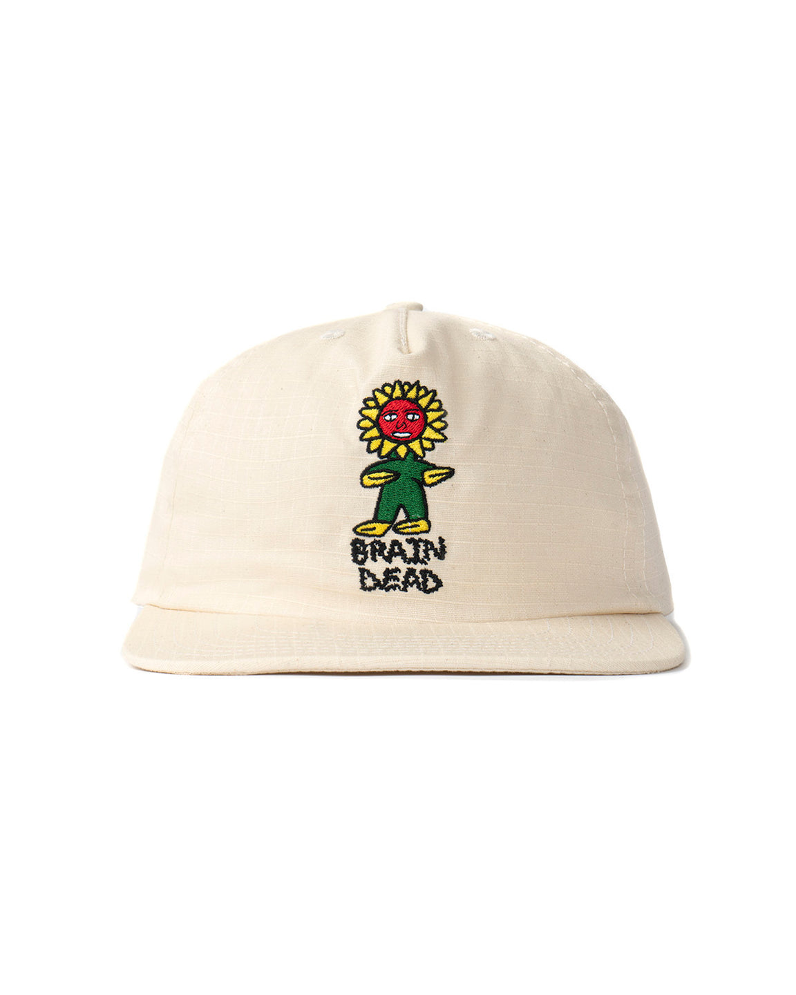Floor Ripstop Five Panel Snapback - Natural