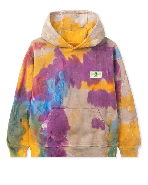 Shout PVC Patch Hooded Sweatshirt - Tie Dye
