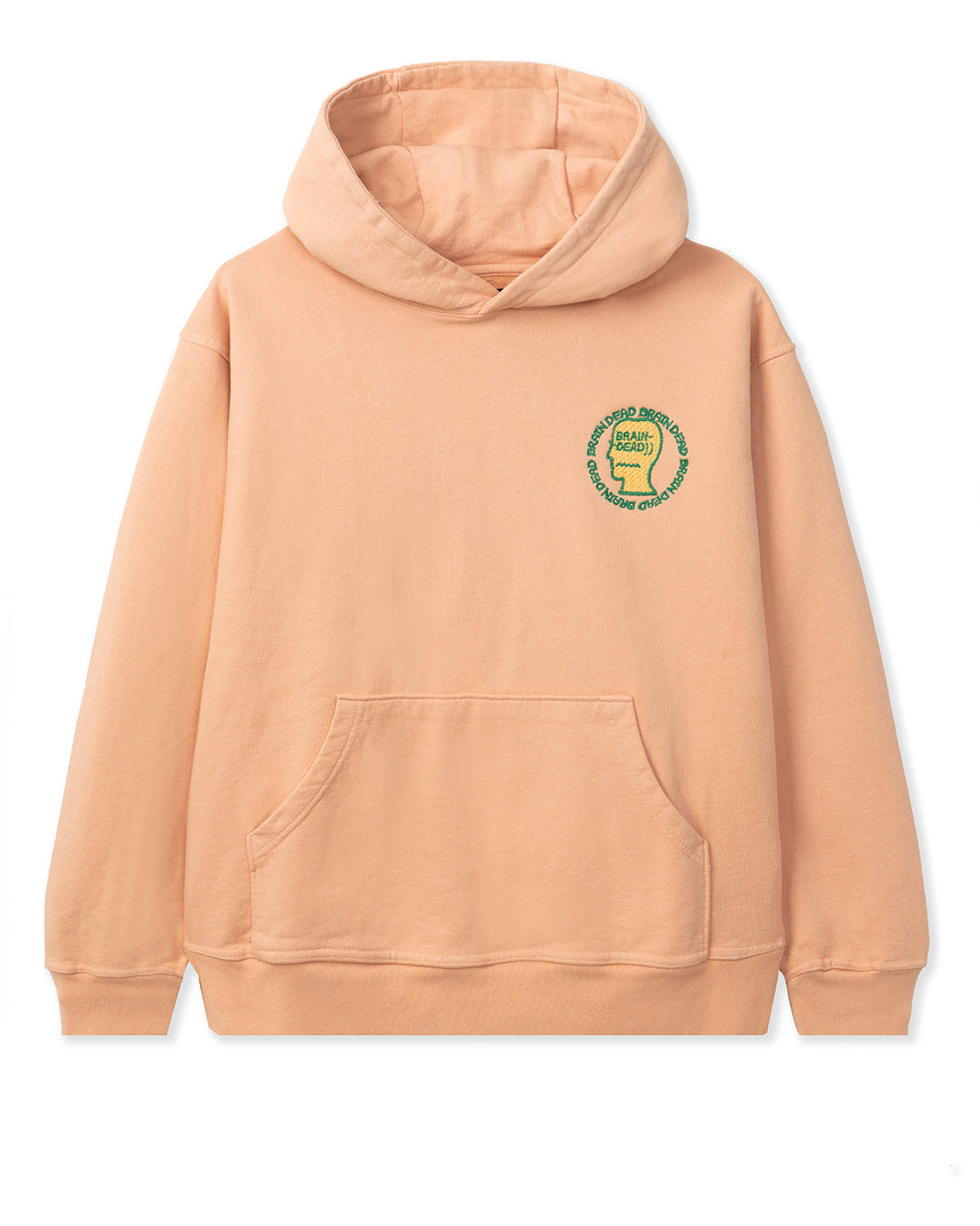 Speed Text Embroidered Logo Head Hooded Sweatshirt - Terracotta