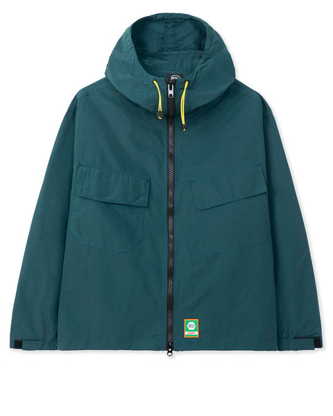 Zip Front Anorak - Blue Green