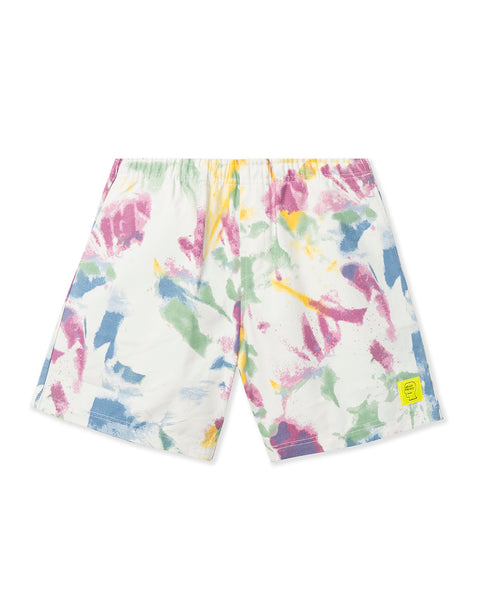 Reflective Logo Head PVC Beach Short - Dry Pigment Dye
