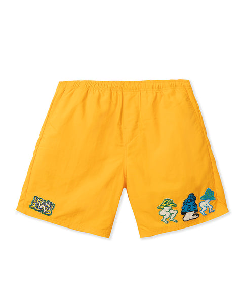 Mushroom Patch Nylon Beach Short - Yellow