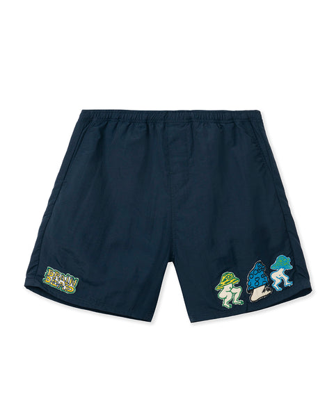 Mushroom Patch Nylon Beach Short - Navy