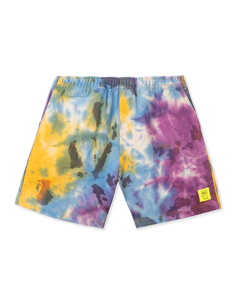 Reflective Logo Head PVC Beach Short - Tie Dye