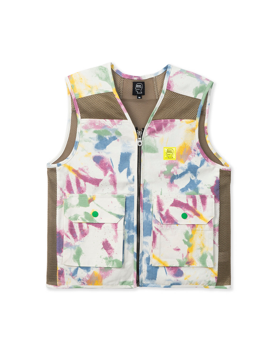 Dyed Canvas Spacer Mesh Tactical Vest - Dry Pigment Dye