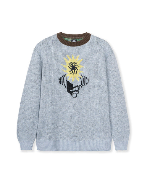 Mondo Knit Crewneck Sweater - Teal