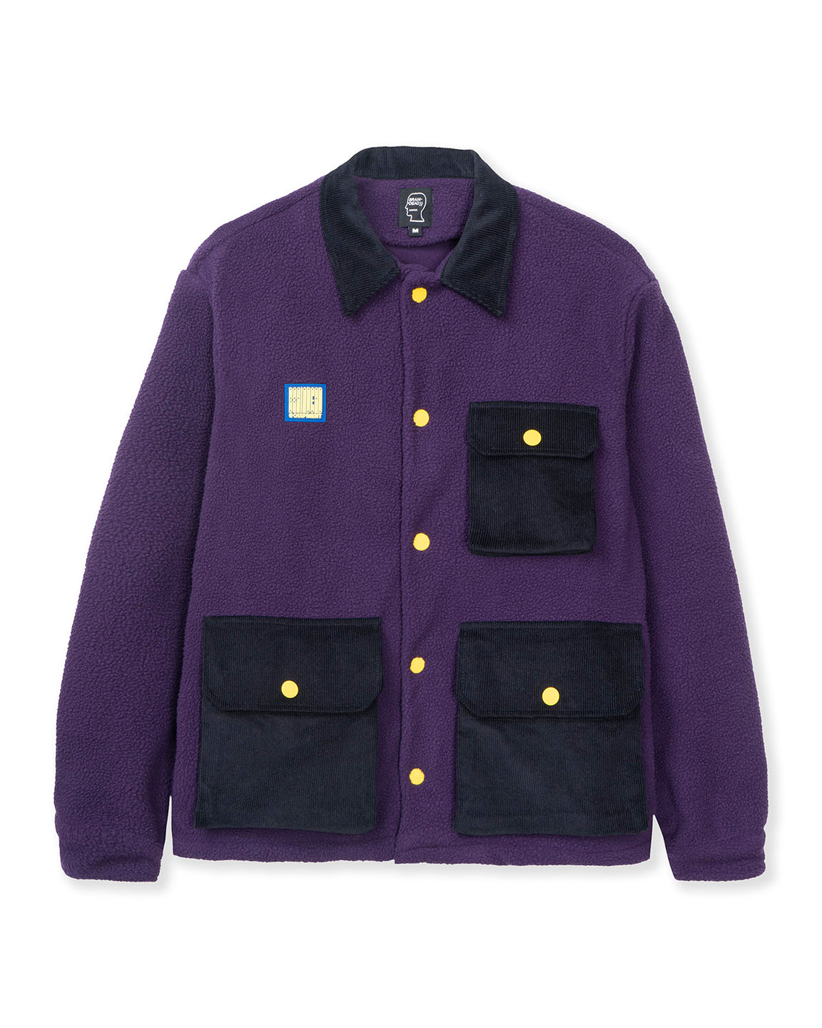 Sherpa Chore Coat - Purple/Navy
