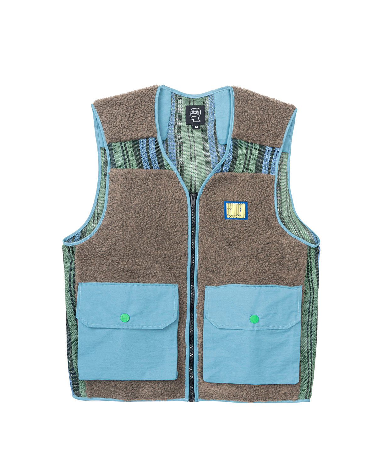 Sherpa Tactical Vest - Brown/Skyblue