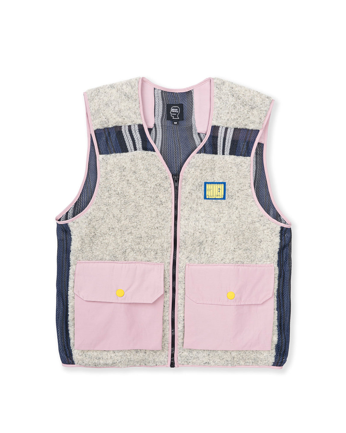 Sherpa Tactical Vest - Cream/Dust Pink