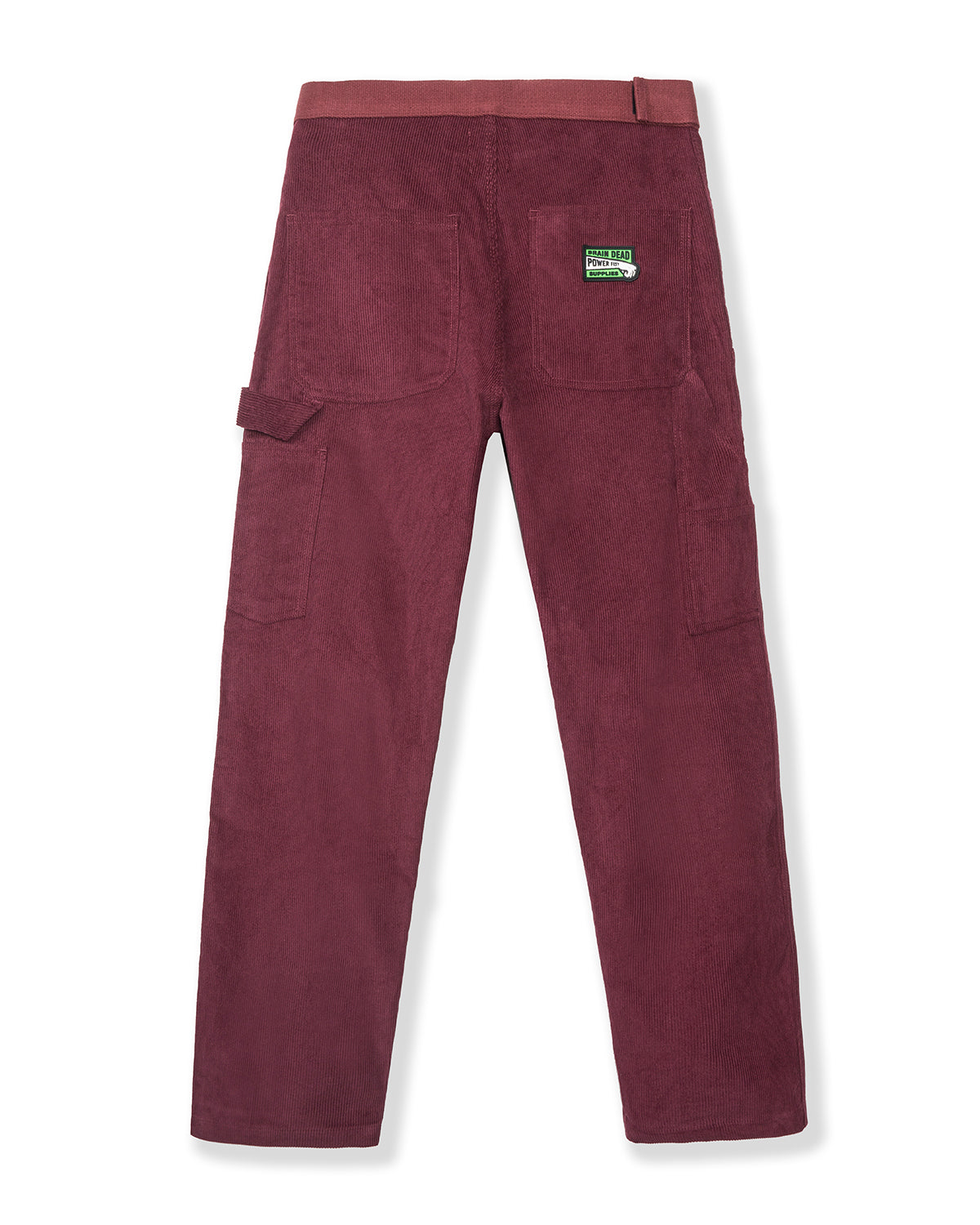 Hard/Software Velcro Corduroy Carpenter Pant - Maroon