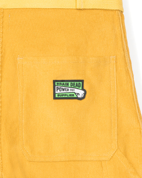 Hard/Software Velcro Corduroy Carpenter Pant - Yellow