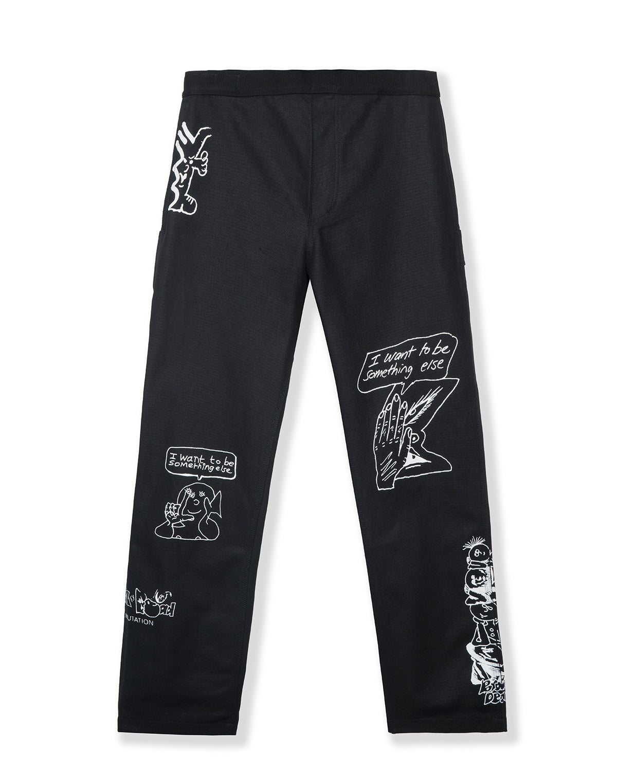 Hard/Software Velcro Printed Carpenter Pant - Black