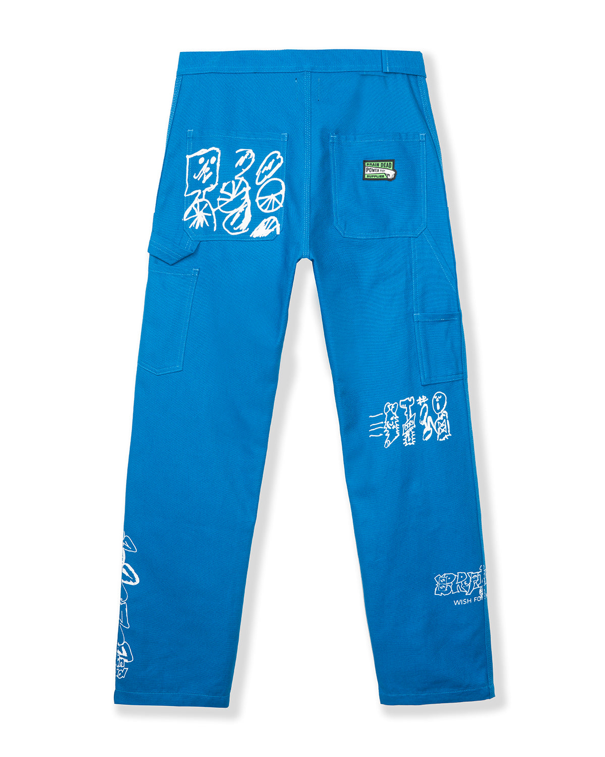 Hard/Software Velcro Printed Carpenter Pant - Blue