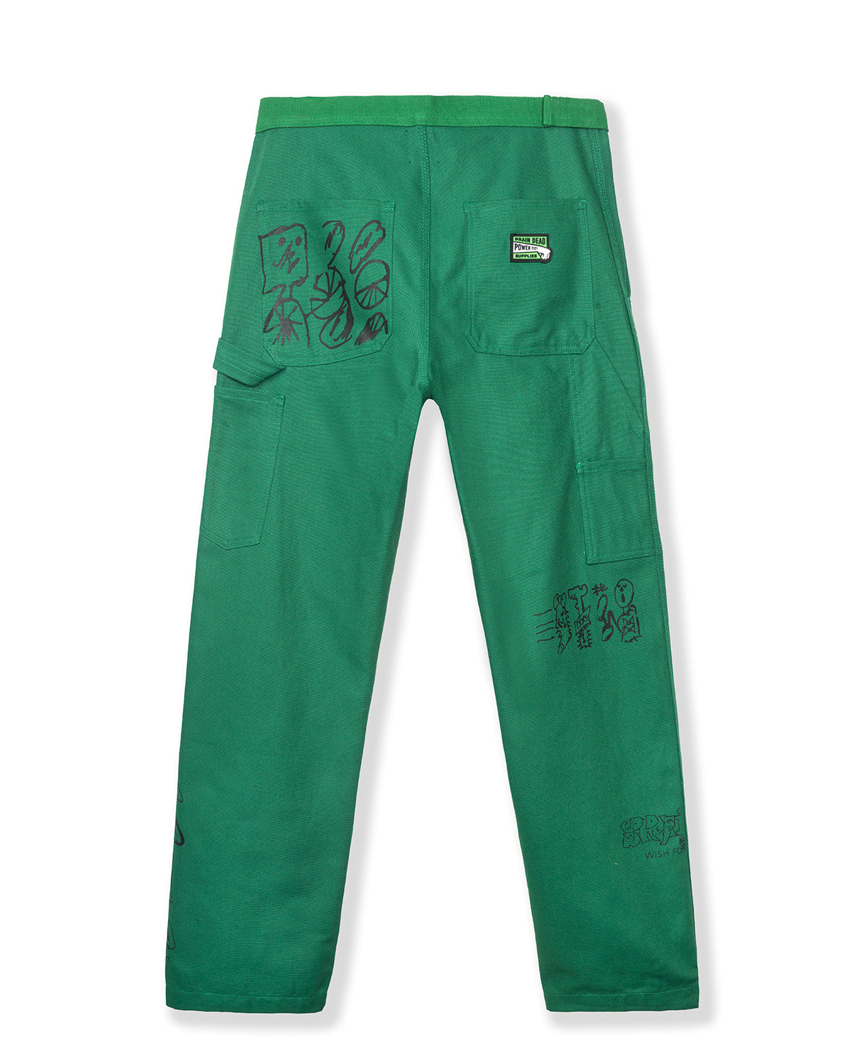 Hard/Software Velcro Printed Carpenter Pant - Forest Green