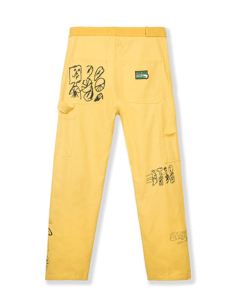 Hard/Software Velcro Printed Carpenter Pant - Yellow