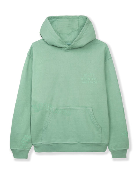 Tonal Type Print Hooded Sweatshirt Hoodie - Putty