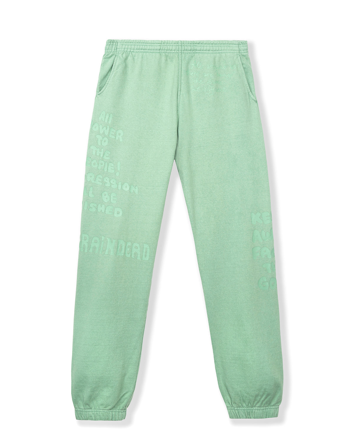 Tonal Type Print Sweatpants - Putty
