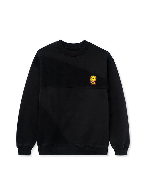 Sunflower Asymmetrical Paneled Crewneck - Black