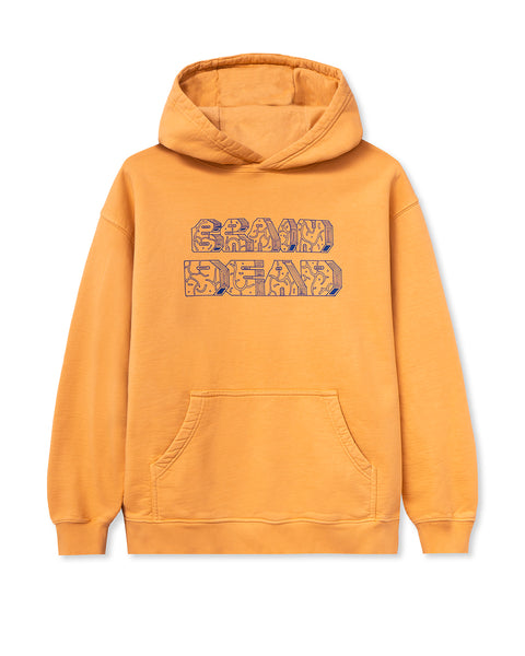 Further From Heaven Long Sleeve Hooded Sweatshirt - Terracotta