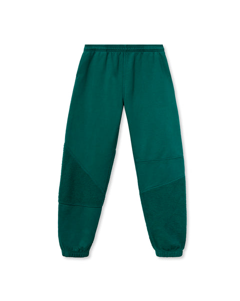 Logo Head Asymmetrical Paneled Sweatpant - Teal