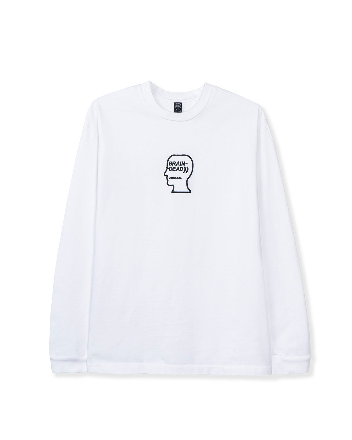 Logo Head Embroidered Heavyweight Long Sleeve - White