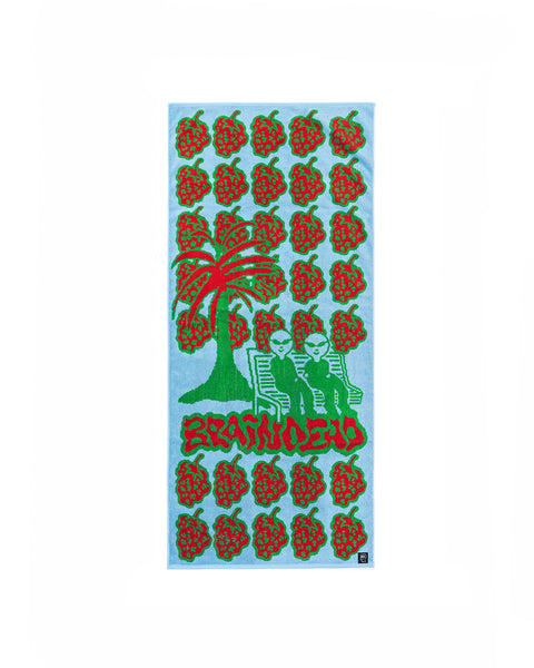 Berry Utopia Towel - Blue